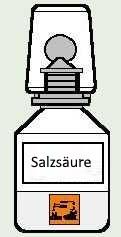 erst salzsäure dann schwefelsäure